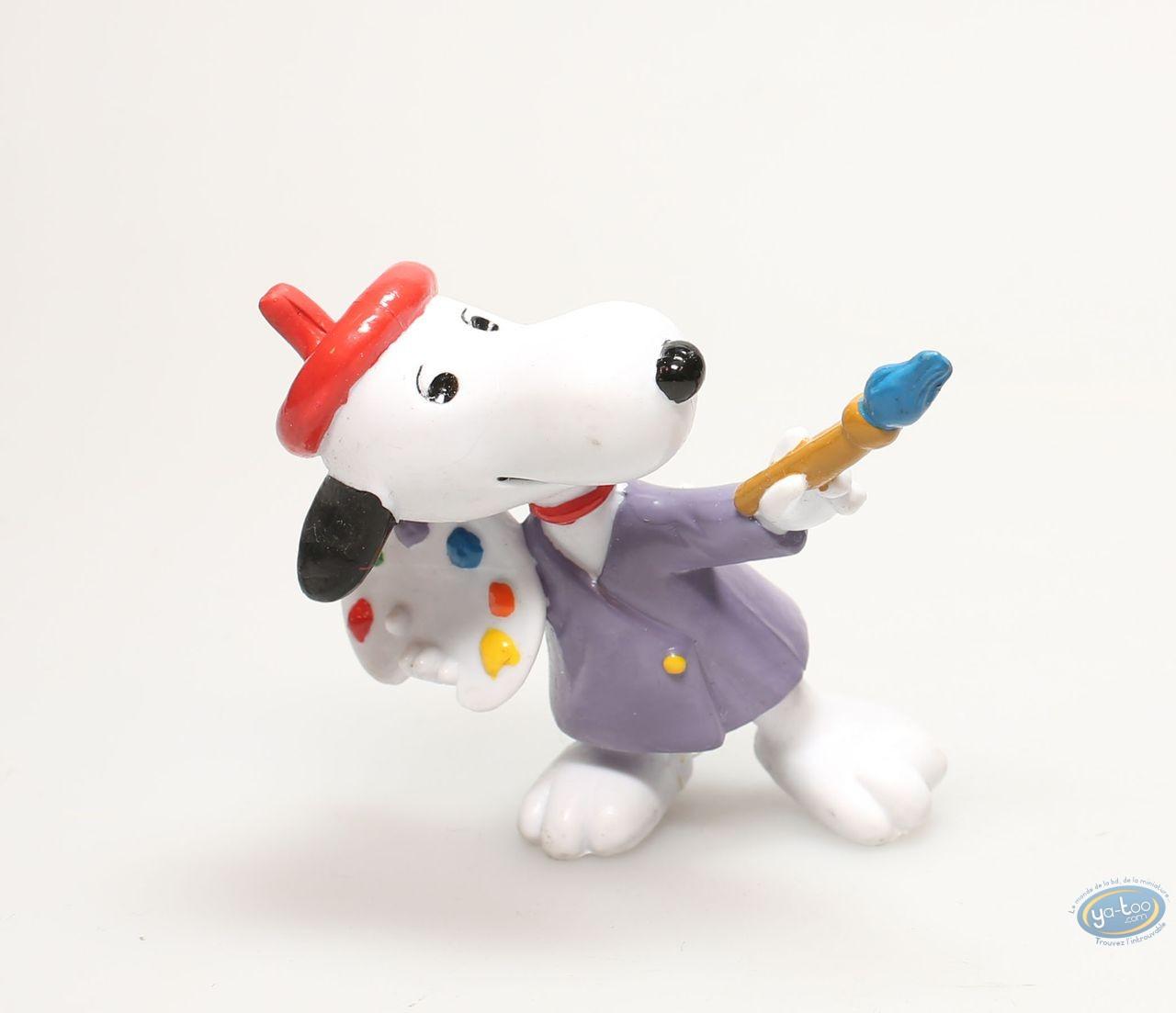 Plastic Figurine, Snoopy : Snoopy painter
