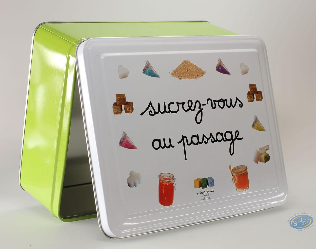Box, Déco et des Mots : Square metal box, Deco : Sucrez vous au passage