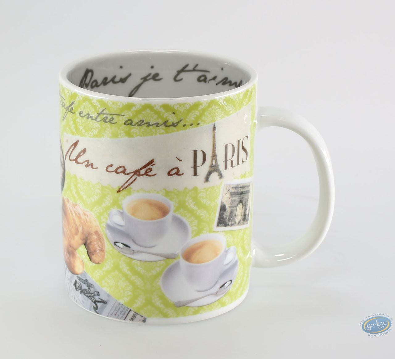Tableware, Paris : Classic Mug : Un cafe a Paris :Green anis