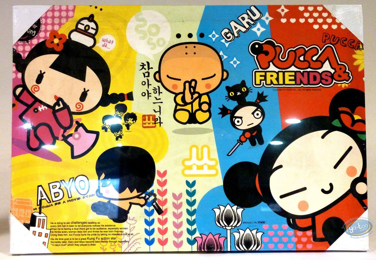 Deco, Pucca : Under canvas, Pucca 'Abyo' 50 X 35