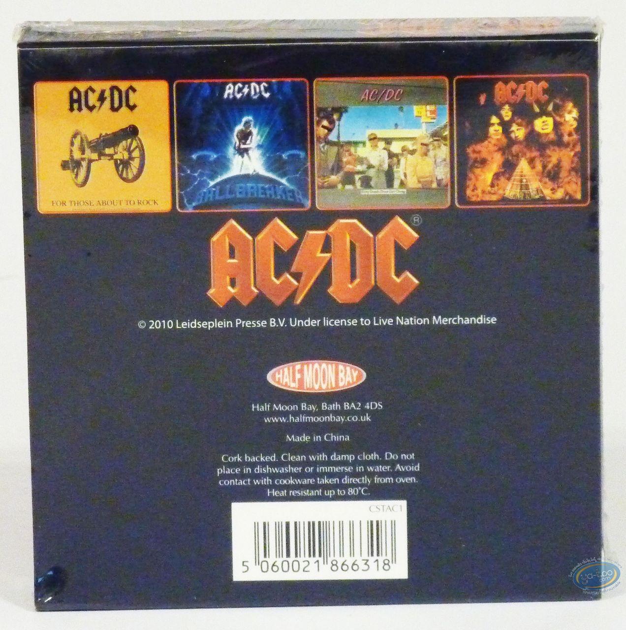 Tableware, AC / DC : Set of 4 coaster, AC/DC