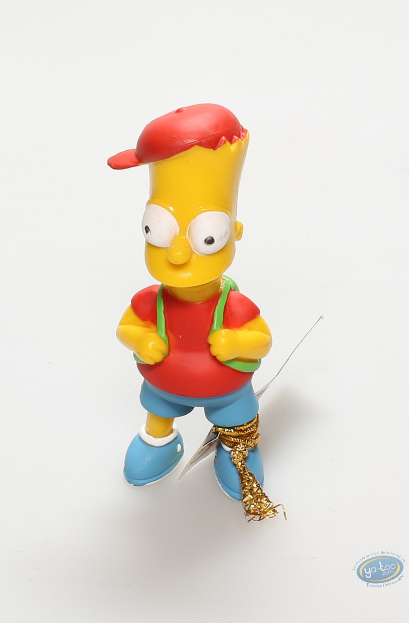 Plastic Figurine, Simpson (Les) : Bart Simpson and his schoolbag