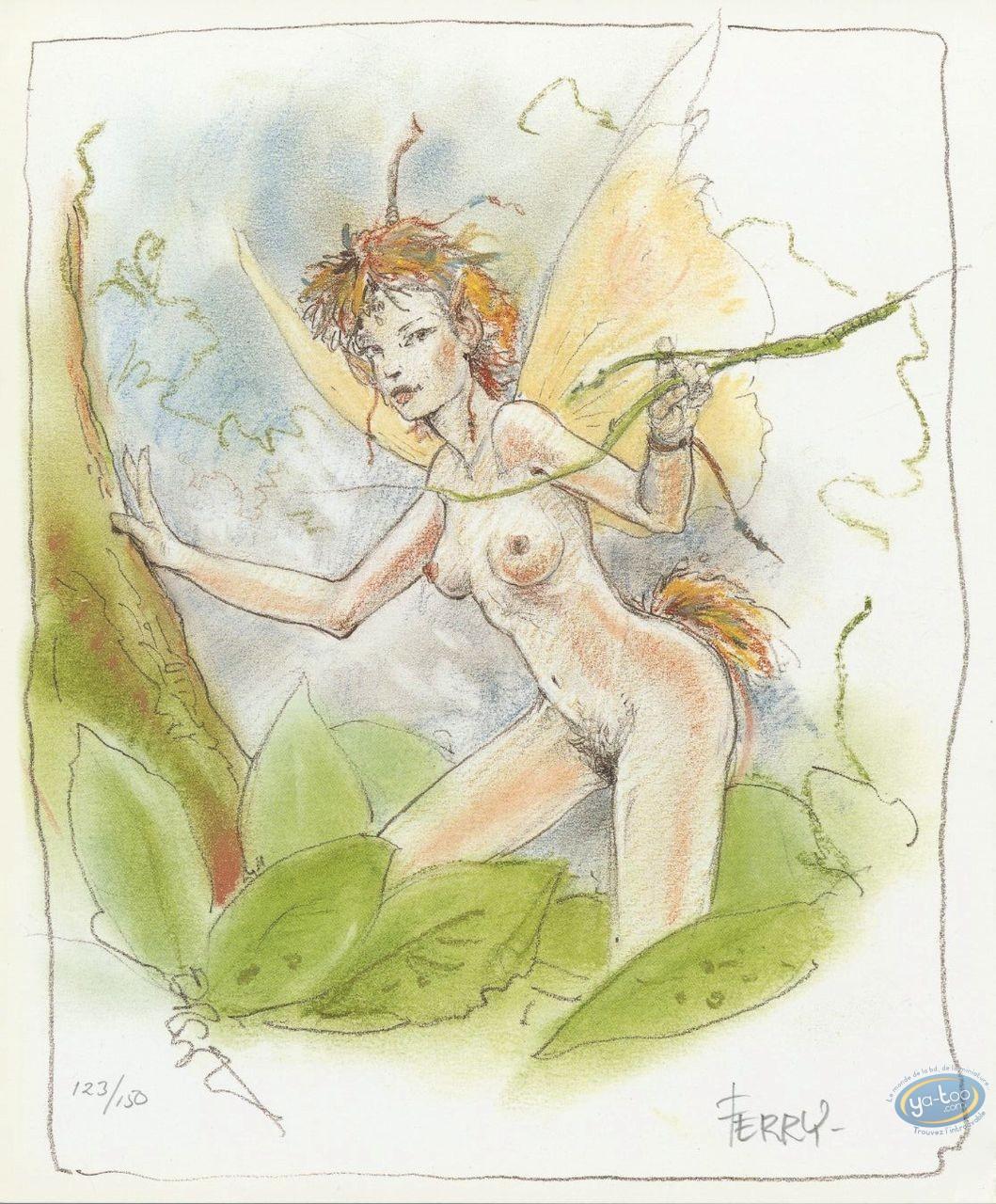 Bookplate Offset, Ian Kaledine : Fairy in the tree