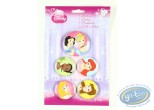Pin's, Disney : 5 buttons Princess, Disney