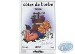 Wine Label, Alys et Vicky : Woman - Côte de l'Orbe 2004