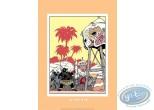 Serigraph Print, Spirou and Fantasio : In Africa