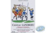 Wine Label, Rugby - Chateau Landrieu