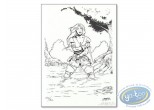 Bookplate Offset, Merlin : Warrior
