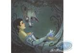 Bookplate Offset, Bois des Vierges (Le) : Aube et Loup de Traille