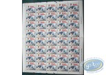 Stamp, Natacha : 40 stamps sheet