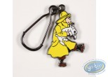 Metal Keyring, Tintin : Tintin waterproof saves Milou (low relief)