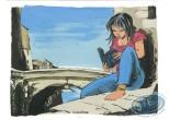 Bookplate Offset, Léo Loden : Woman Reading