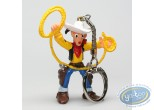 Plastic Figurine, Lucky Luke : Keyring Lucky Luke lasso in the air