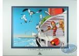 Offset Print, Spirou and Fantasio : Boat