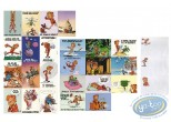 Post Card, Spirou and Fantasio : 24 cards + 24 envelopes