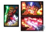 Deco, Lighted canvas, Manga (set of 3)