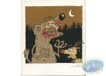 Bookplate Serigraph, Henri Chienne de Vie : The Wolf