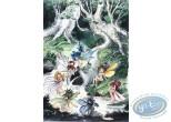 Offset Print, Fairies having a Bath