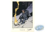 Bookplate Serigraph, Nash : Nash camp fire