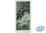 Bookplate Serigraph, Garulfo : Owl & Frog
