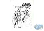 Serigraph Print, Ric Hochet : Mystery in Porquerolles (b&w)