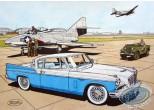 Aquarelle, Buck Danny : Studebaker 57 (blue)