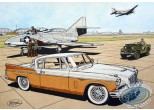 Aquarelle, Buck Danny : Studebaker 57 (orange)