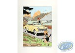 Aquarelle, Pin-Up : Meynet, Cabriolet Peugeot 202