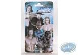 Metal Keyring, World Wrestling Entertainment : Metal keychain, The Stars of Wrestling:  Edge, Undertaker, Triple H, Joheena, Mysterio