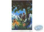 Bookplate Offset, Pixie : Tree & Fairies