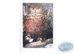 Offset Print, The eagle owl (signed)