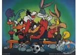 Offset Print, Looney Tunes (Les) : The Looney team 60X80 cm