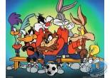 Offset Print, Looney Tunes (Les) : The Looney team 40X50 cm