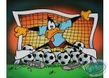 Offset Print, Daffy Duck : Daffy the goal keeper 40X50 cm