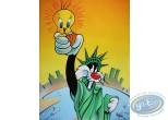Offset Print, Titi : Give me liberty 80X60 cm