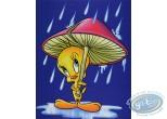 Offset Print, Titi : Tweety under a mushroom 50X40 cm