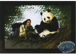 Bookplate Offset, Golden City : Woman & panda