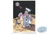 Bookplate Offset, Tintin : De la Lune à la Terre