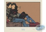 Bookplate Serigraph, Polka : Couple