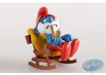 Plastic Figurine, Smurfs (The) : Big Smurf on his rocking chair