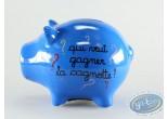 Piggy Bank, Déco et des Mots : Blue Petrol Ceramic Piggy Bank : 'Qui veut gagner la cagnotte?'
