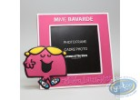 Photo Frame,  Mr. Men and Little Miss : PVC Photo Frame, Mrs. Chatterbox : Pink
