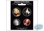 Fashion and beauty, Marilyn Monroe : 4 badges set Marilyn Monroe