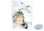 Aquarelle, Dan Cooper : Portrait with Plane 3