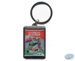 Silvered key ring : 'Le circuitde la peur'