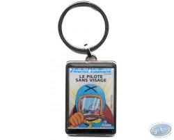 Silvered key ring : 'Le pilote sans visage'