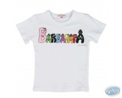 T-shirt short sleeve white Barbapapa for kid : size 92/98, logo