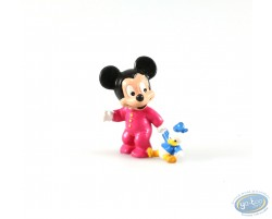 Baby Mickey with his cuddly toy Donald, Disney
