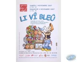 Advertising poster 'Li vî bleû' of Walthéry