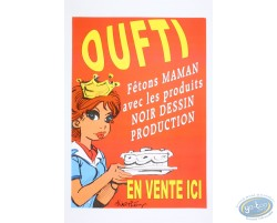 Advertising poster 'Oufti' of Walthéry